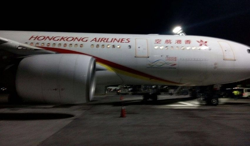 hongkong airline turbelensi