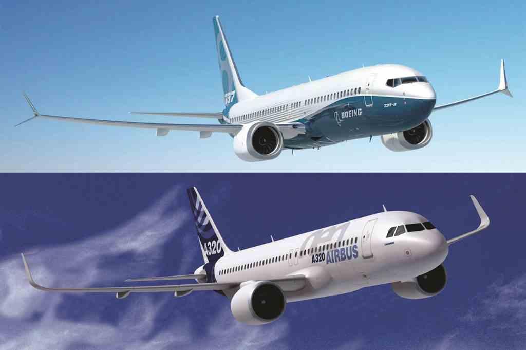 Ilustrasi Persaingan Airbus dan Boeing